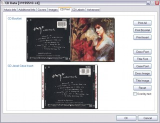 Music Library CD booklet and insert print options